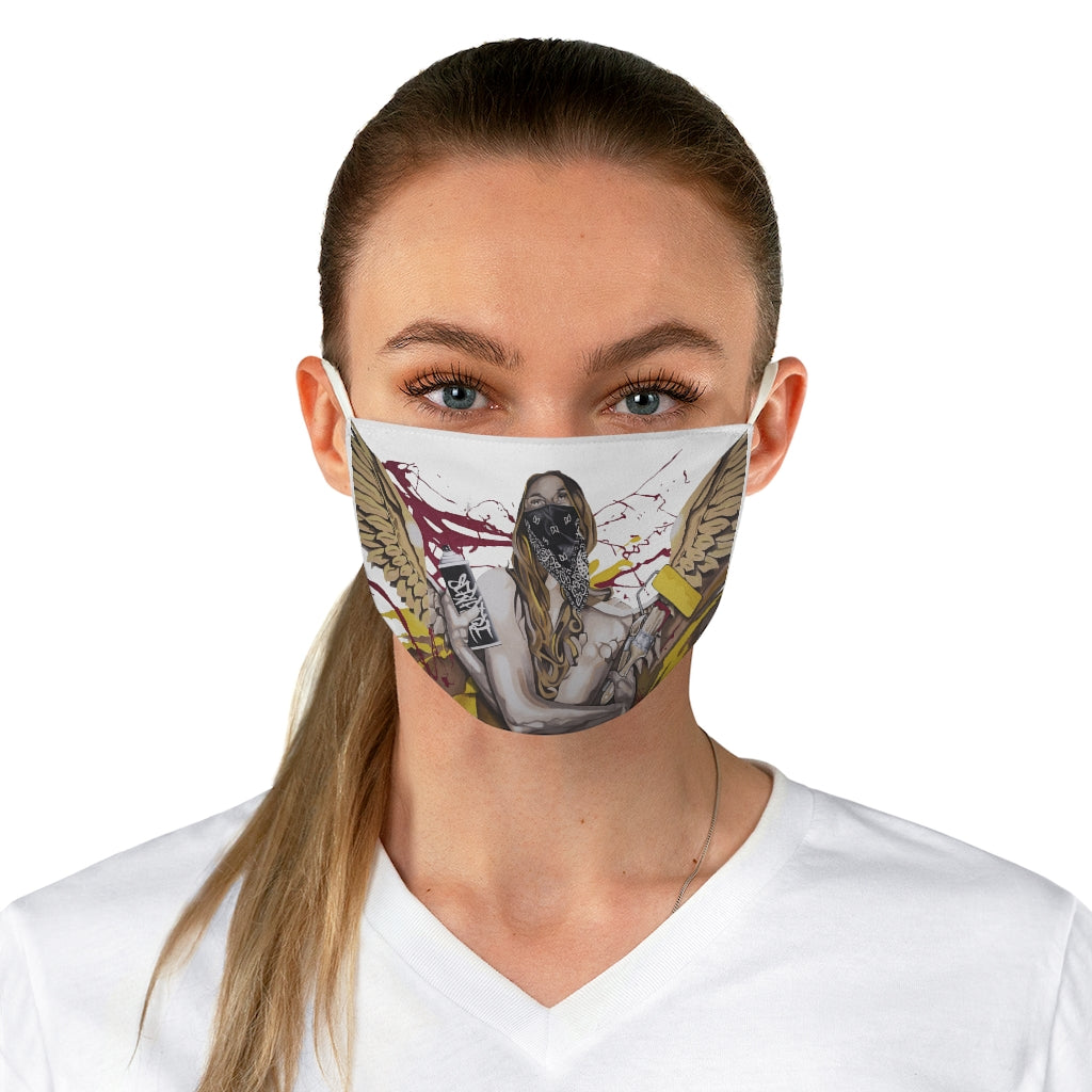 'Graffiti Angel' Fabric Face Mask