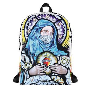 Mama Mary Backpack-White
