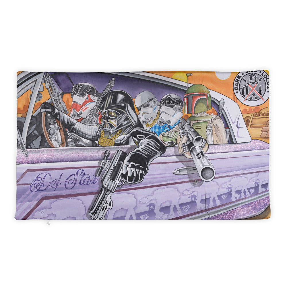 Dark Side Locos-Throw Pillowcase