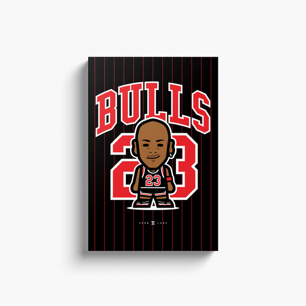 Bulls—Canvas Art—23—No Frame