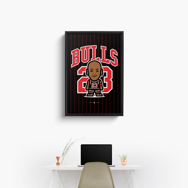 Bulls—Canvas Art—23—Framed