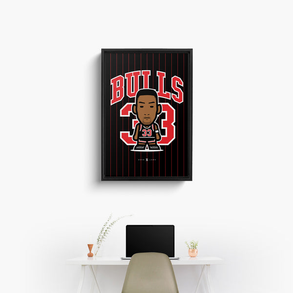 Bulls—Canvas Art—33—Framed