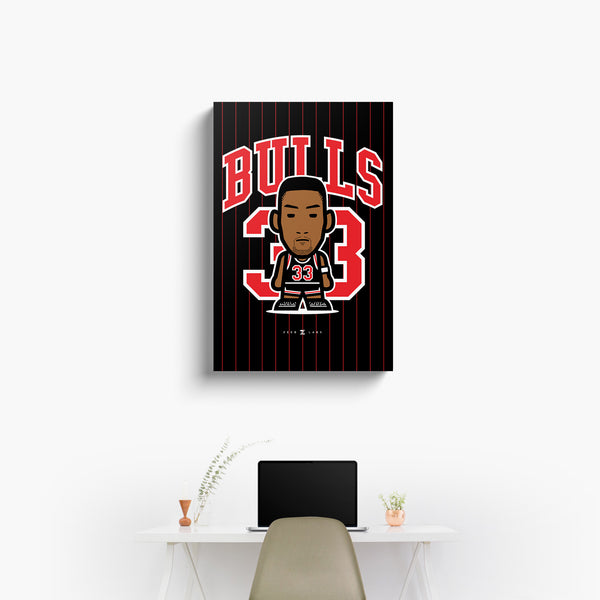 Bulls—Canvas Art—33—No Frame