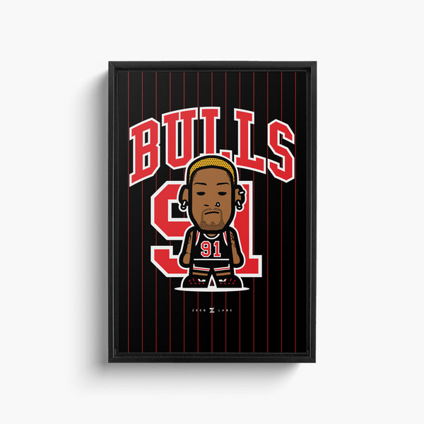 Bulls—Canvas Art—91—Framed
