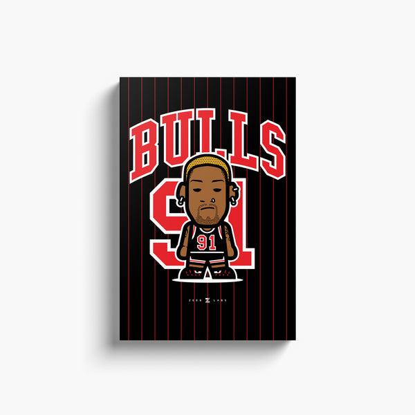 Bulls—Canvas Art—91—No Frame