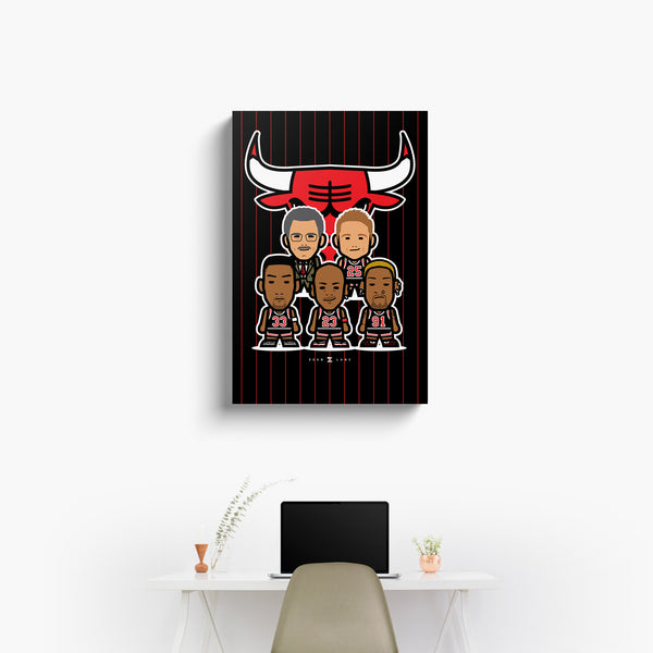 Bulls—Canvas Art—Squad—No Frame