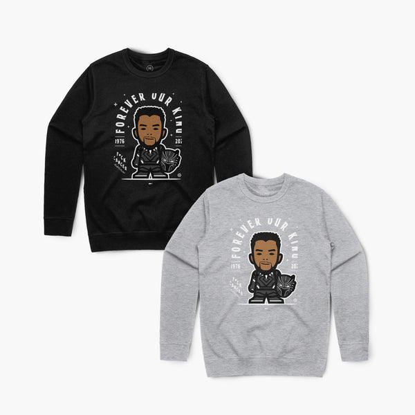 Our King—Crewsweater—Blk