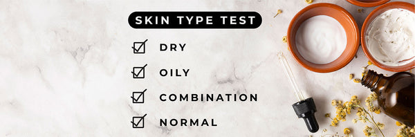 This is an image on the skin test to identify each skin type