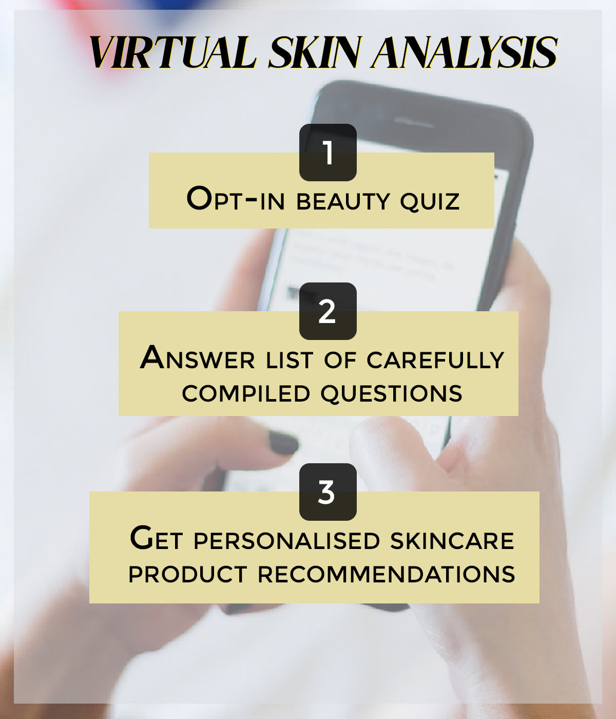 This is an image of the virtual skin analysis on www.sublimelife.com