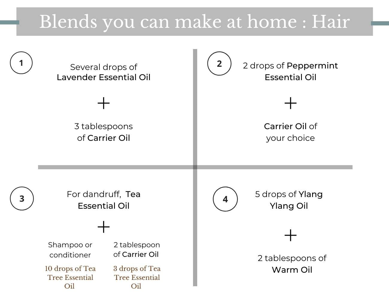 This is an image showing how to Blend Essential Oils for Hair.