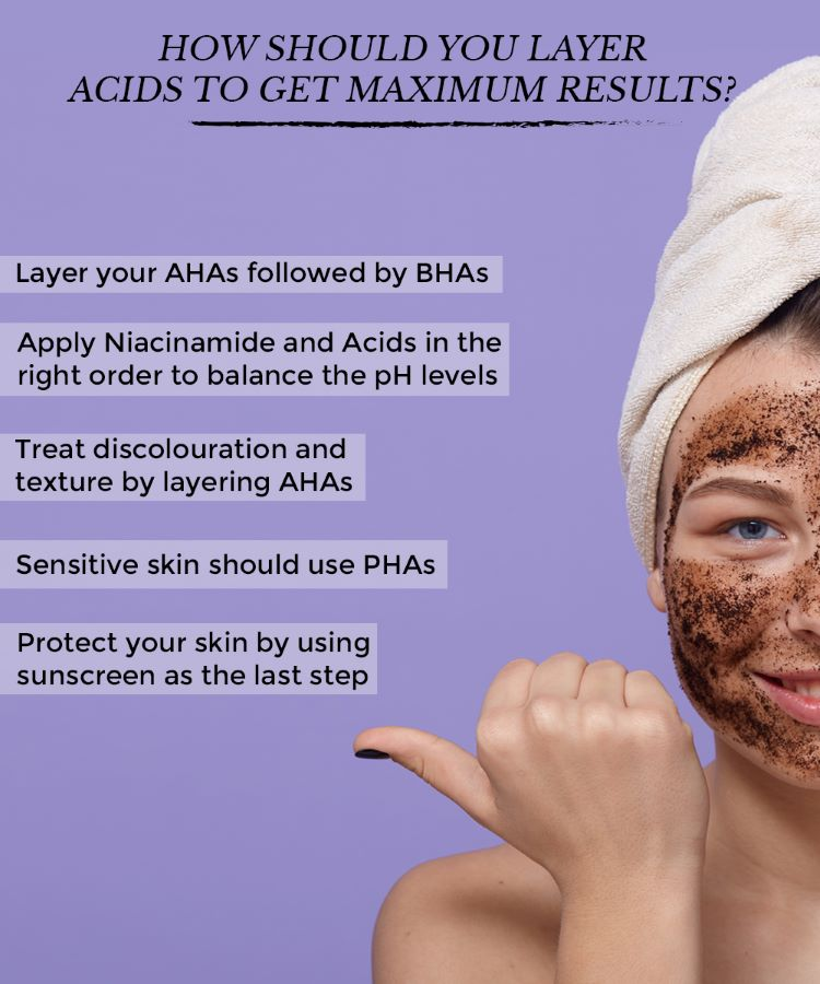 This is an image showing how to effectively use AHAs and BHAs in your skincare.