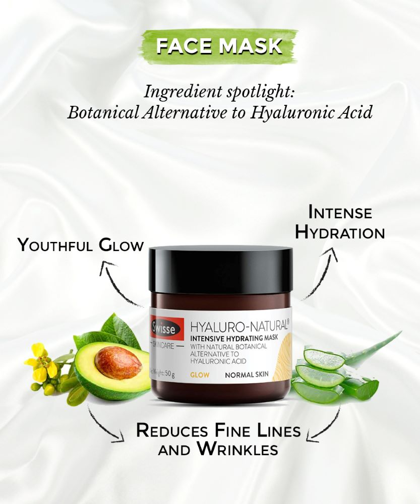 This is image of the swisse hyaluro mask for combination skin on www.sublimelife.in