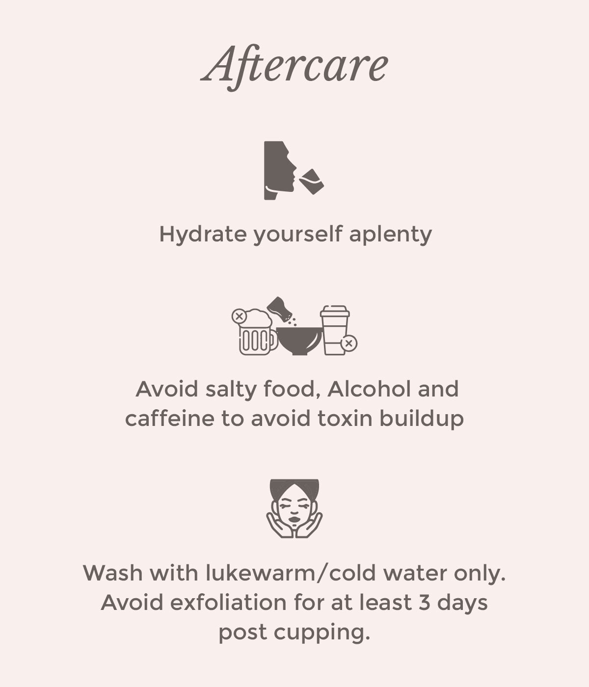 This is an image of how to take care of yourself after facial cupping on www.sublimelife.in