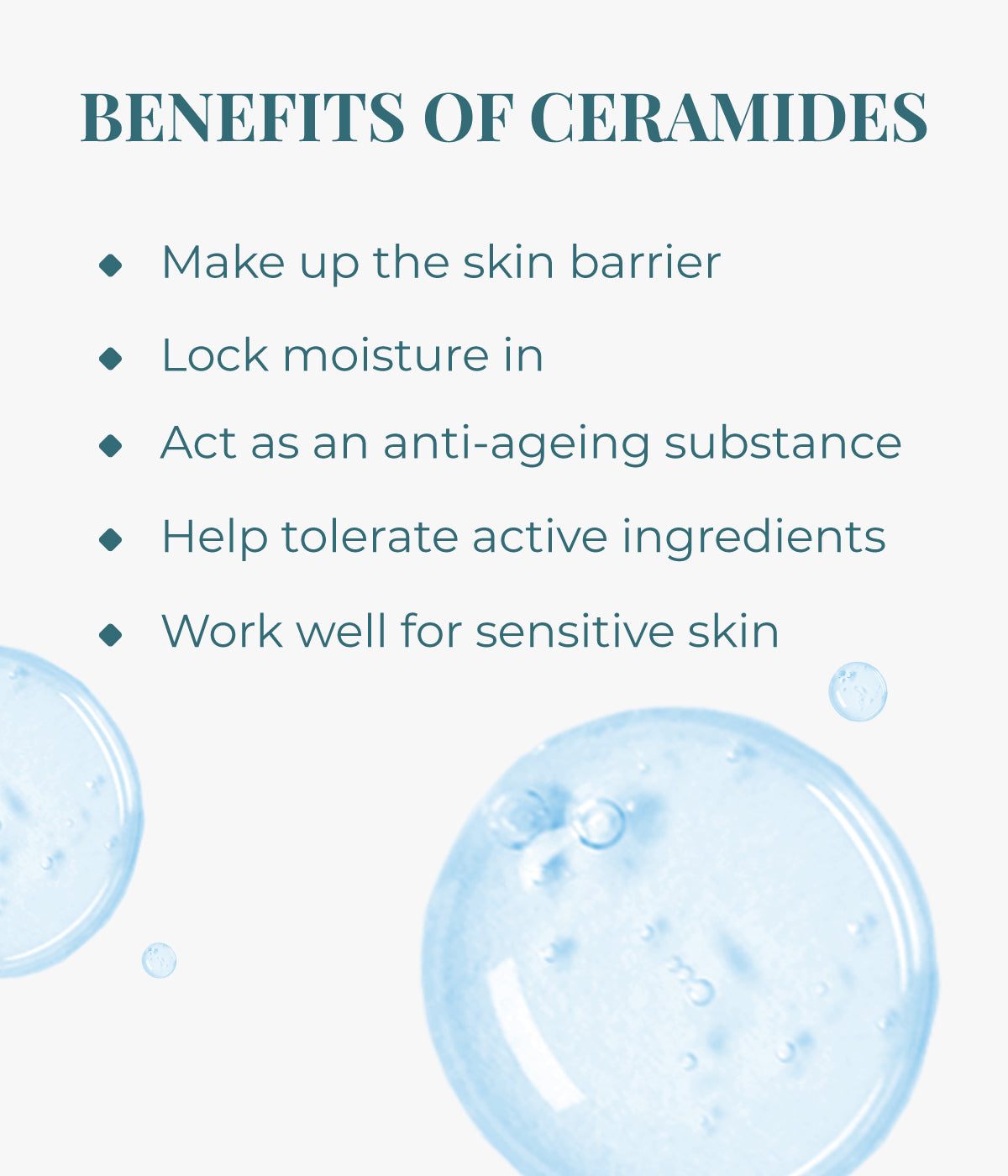 This is an image of benefits of Ceramides on www.sublimelife.in