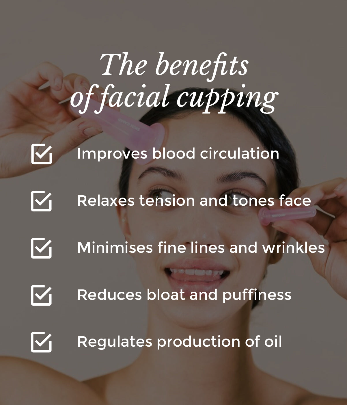 This is an image of benefits of facial cupping on www.sublimelife.in