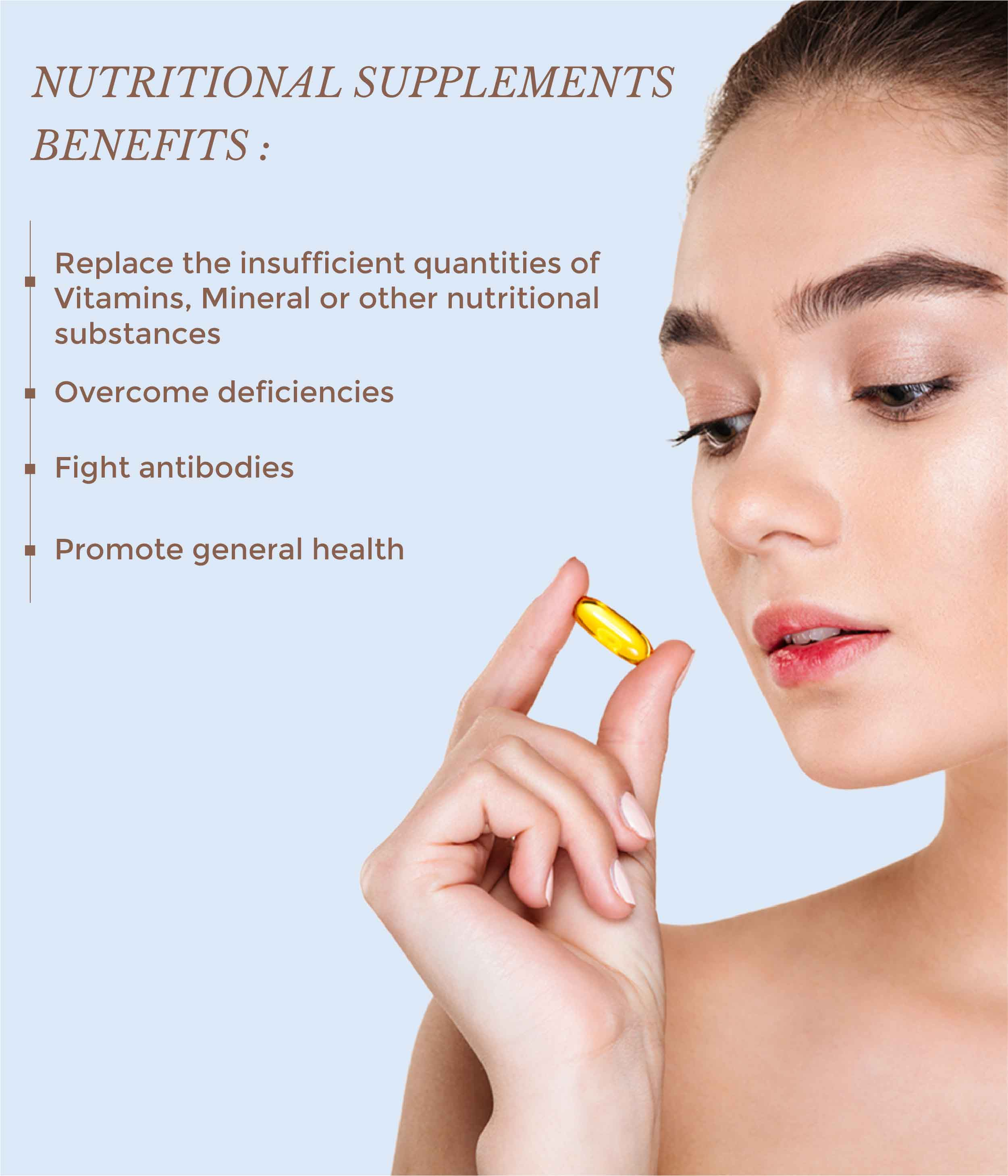This is an an image of the benefits of nutritional supplements