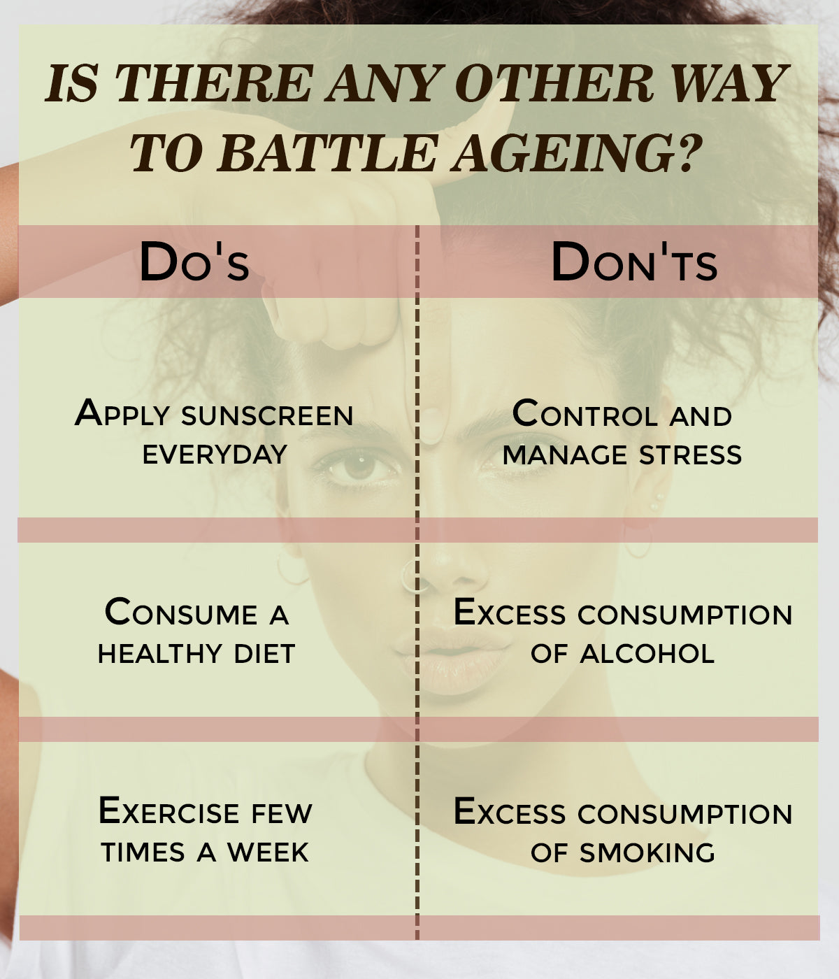 This is an image of ways to battle ageing on www.sublimelife.in