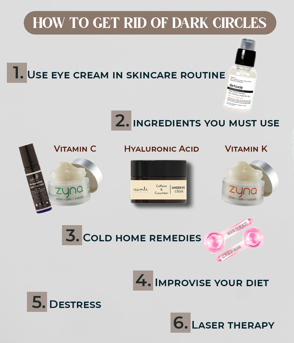 This is an image of how to get rid of dark circles