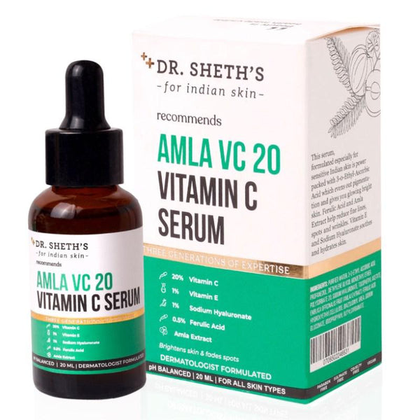 This is an image of Dr Sheth's Amla Vc20 Vitamin C Serum on www.sublimelife.in