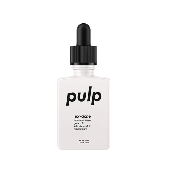 This is an image of Pulp Ex-acne Anti Acne Treatment Superfood Serum on www.sublimelife.in
