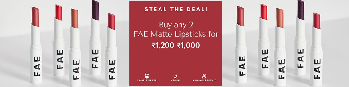 Shop the best matte lipsticks with vegan, cruelty-free and fragrance free ingredients from Fae Beauty on SublimeLife.in.