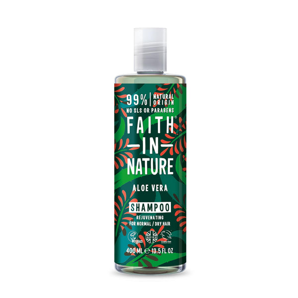 This is an image of Faith In Nature Aloe Vera Shampoo on www.sublimelife.in