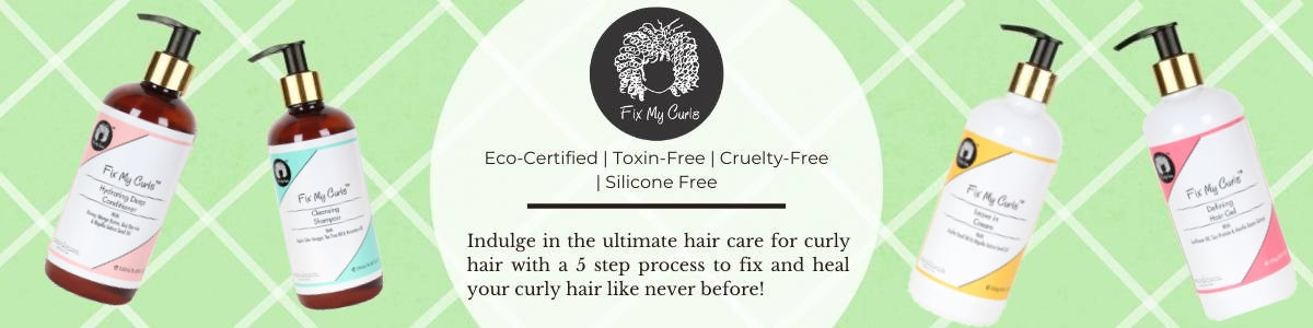 Shop for a simple 5 step process to heal curly hair and manage frizz and tangles from Fix My Curls on SublimeLife.in.