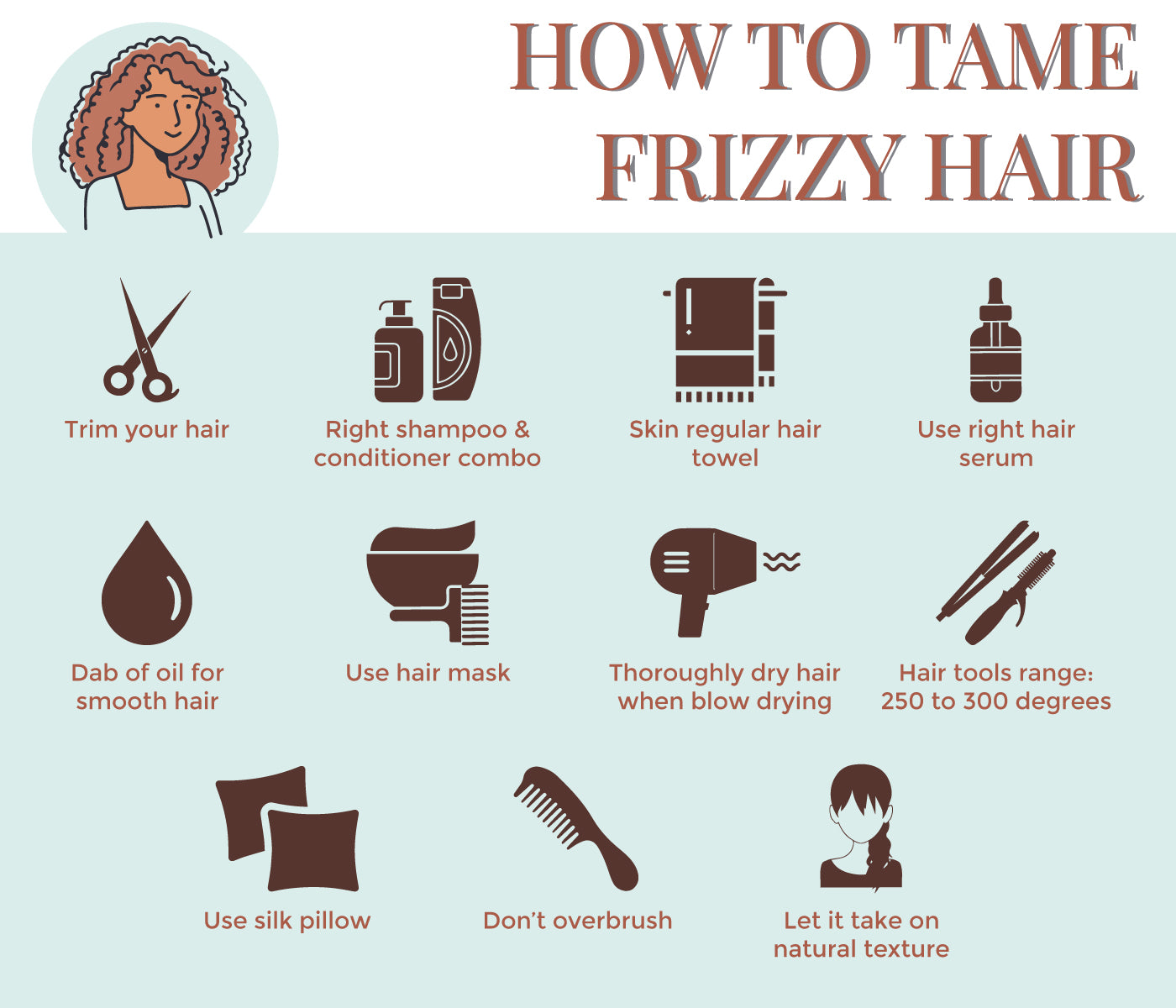 This is an image of how to tame your hair on www.sublimelife.in