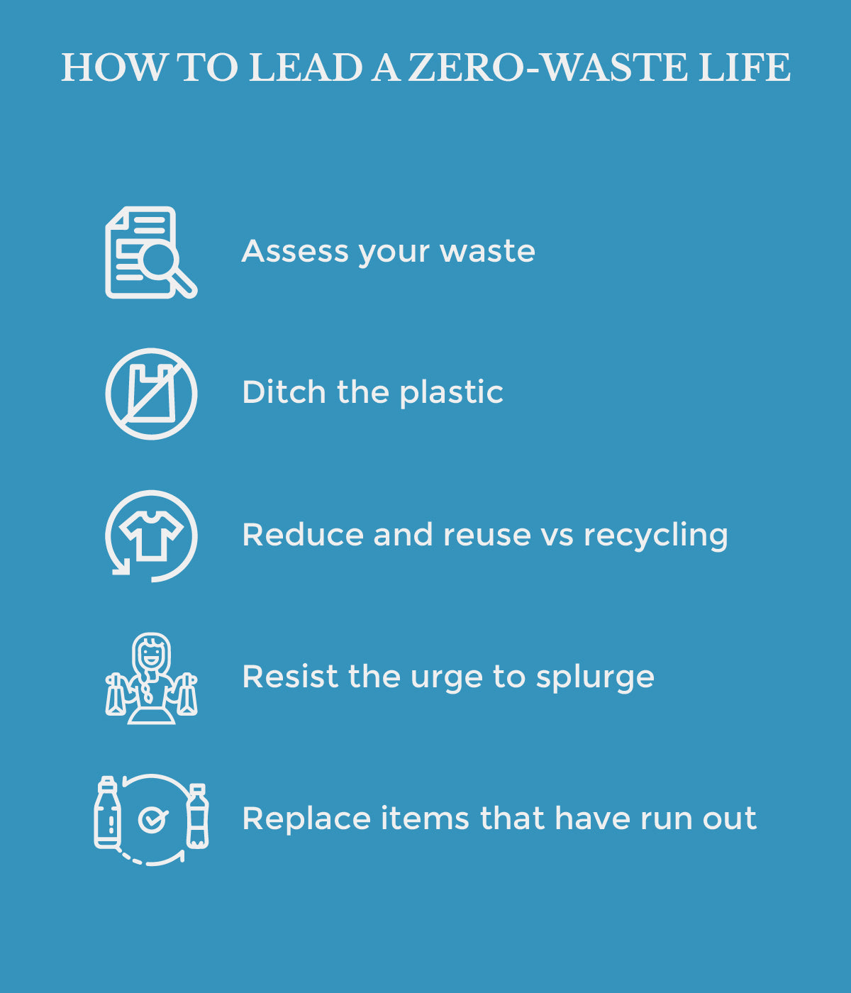 This is an image of how to lead a zero waste life on www.sublimelife.in.