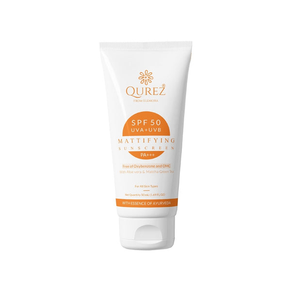 This is an image of Qurez Mattifying SPF 30 Mineral Sunscreen With Sea Buckthorn & Aloe Vera on www.sublimelife.in