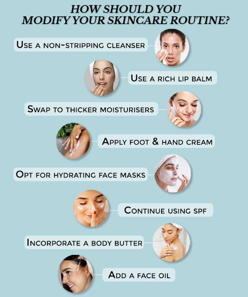 This is an image of how you should change your skincare routine in the winter on sublimelife.in