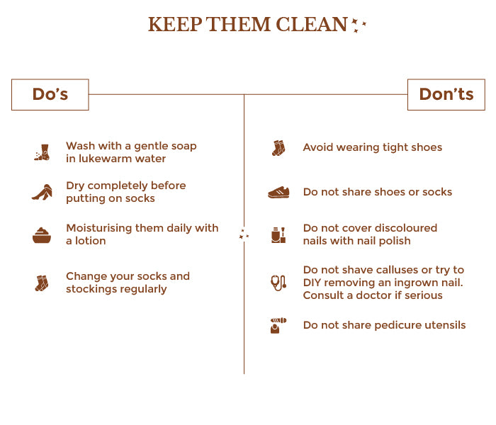 This is an image of keeping feet clean on www.sublimelife.in