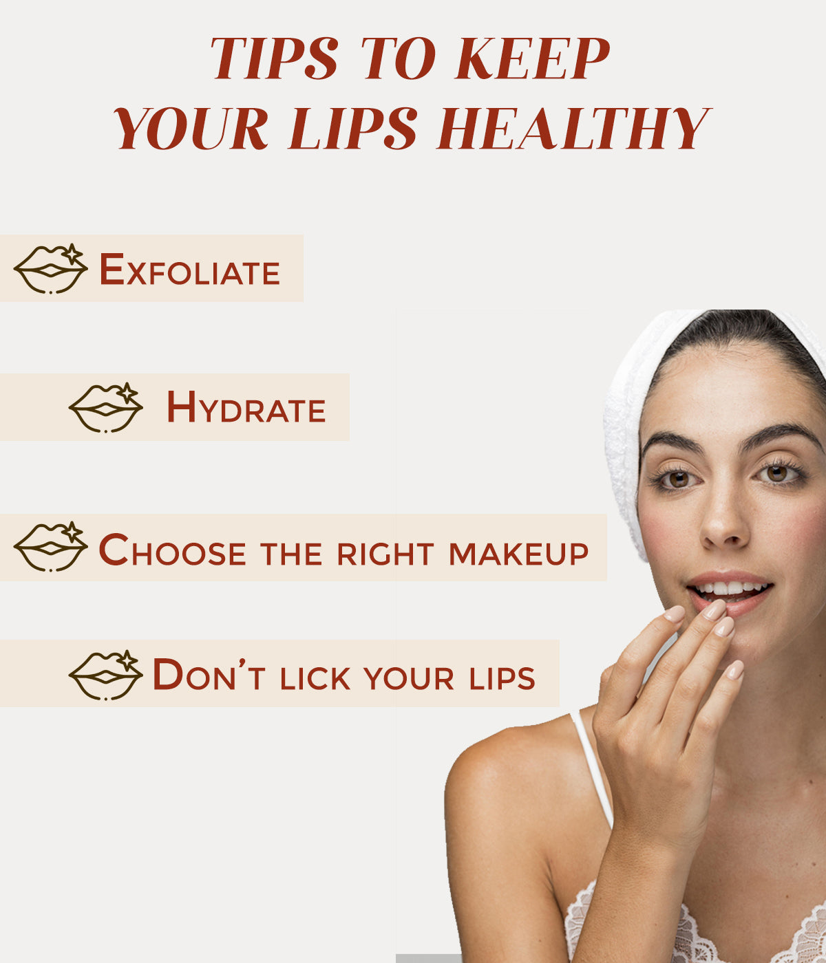 This is an image of tips to keep in mind to keep your lips healthy