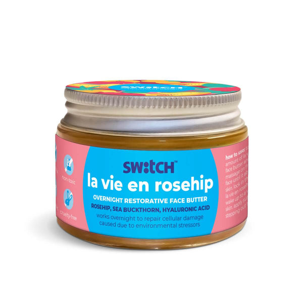 This is an image of The Switch Fix Restorative La Vie En Rosehip Overnight Face Butter on www.sublimelife.in
