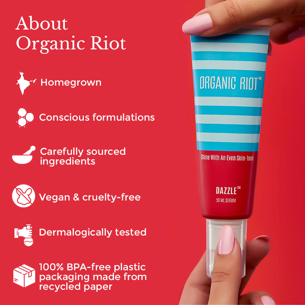 This is an image about organic riot and their products on www.sublimelife.in
