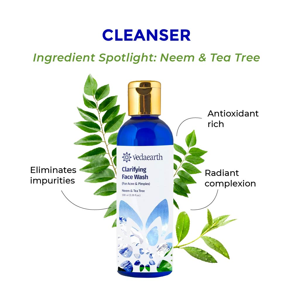 this is an image of the vedaearth clarifying face wash for acne prone skin on www.sublimelife.in
