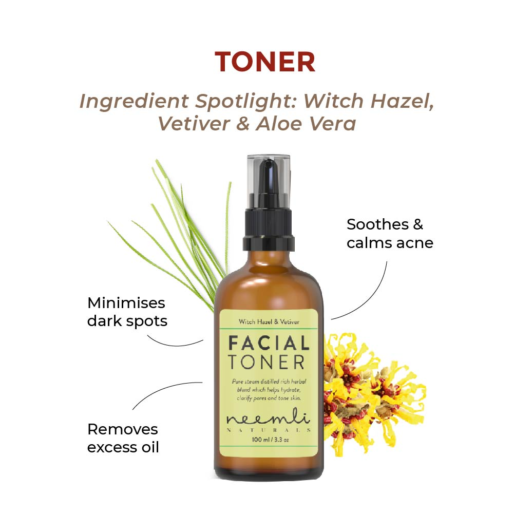 This is an image of the neemli naturals vetiver and witch hazel toner for acne prone skin on www.sublimelife.in