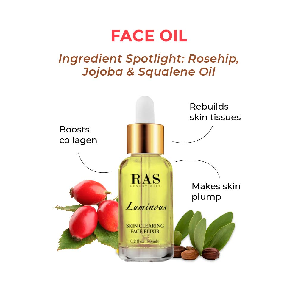 this is an image of the ras luminous clearing face elixir for acne prone skin on www.sublimelife.in