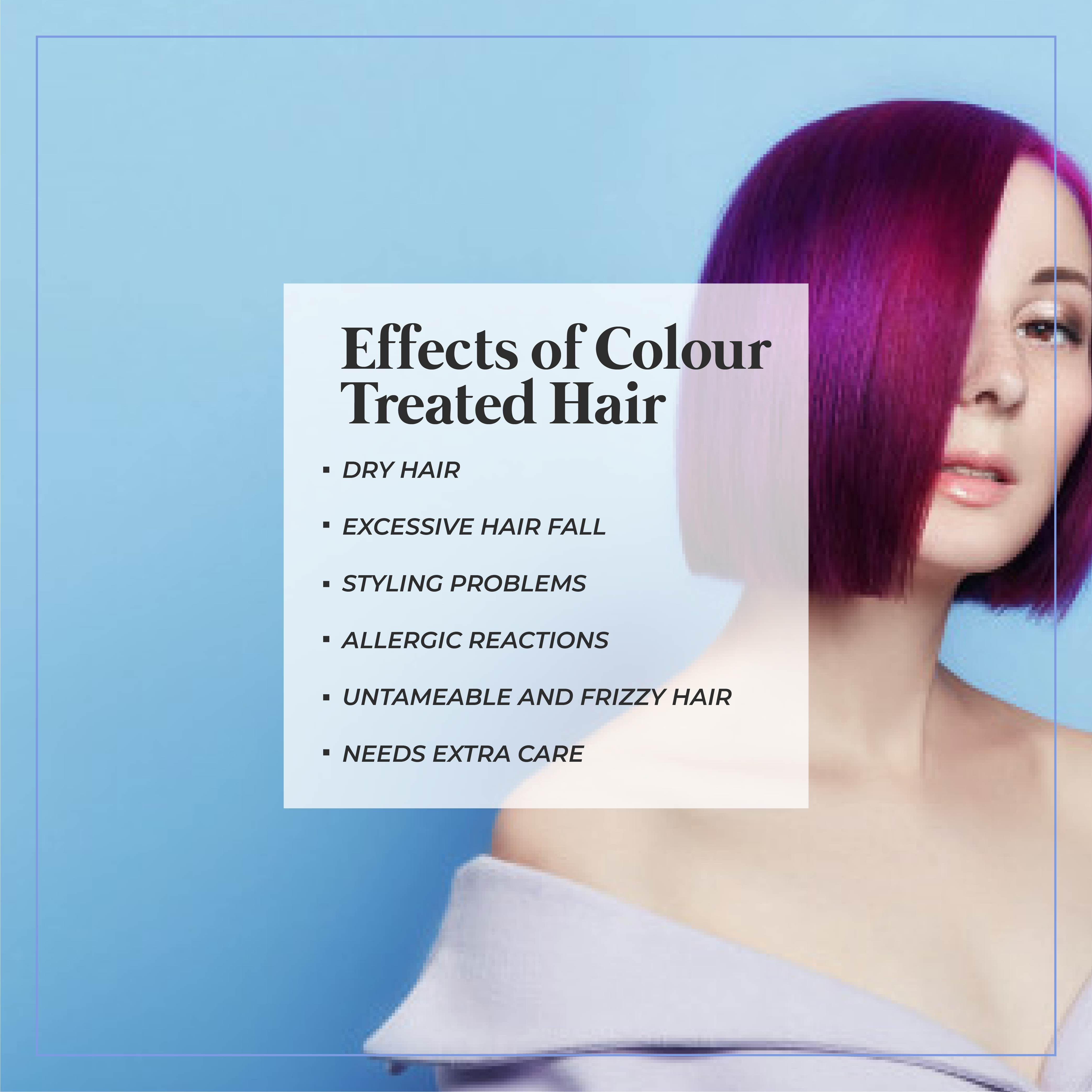 This is an image of effects of colour treated hair