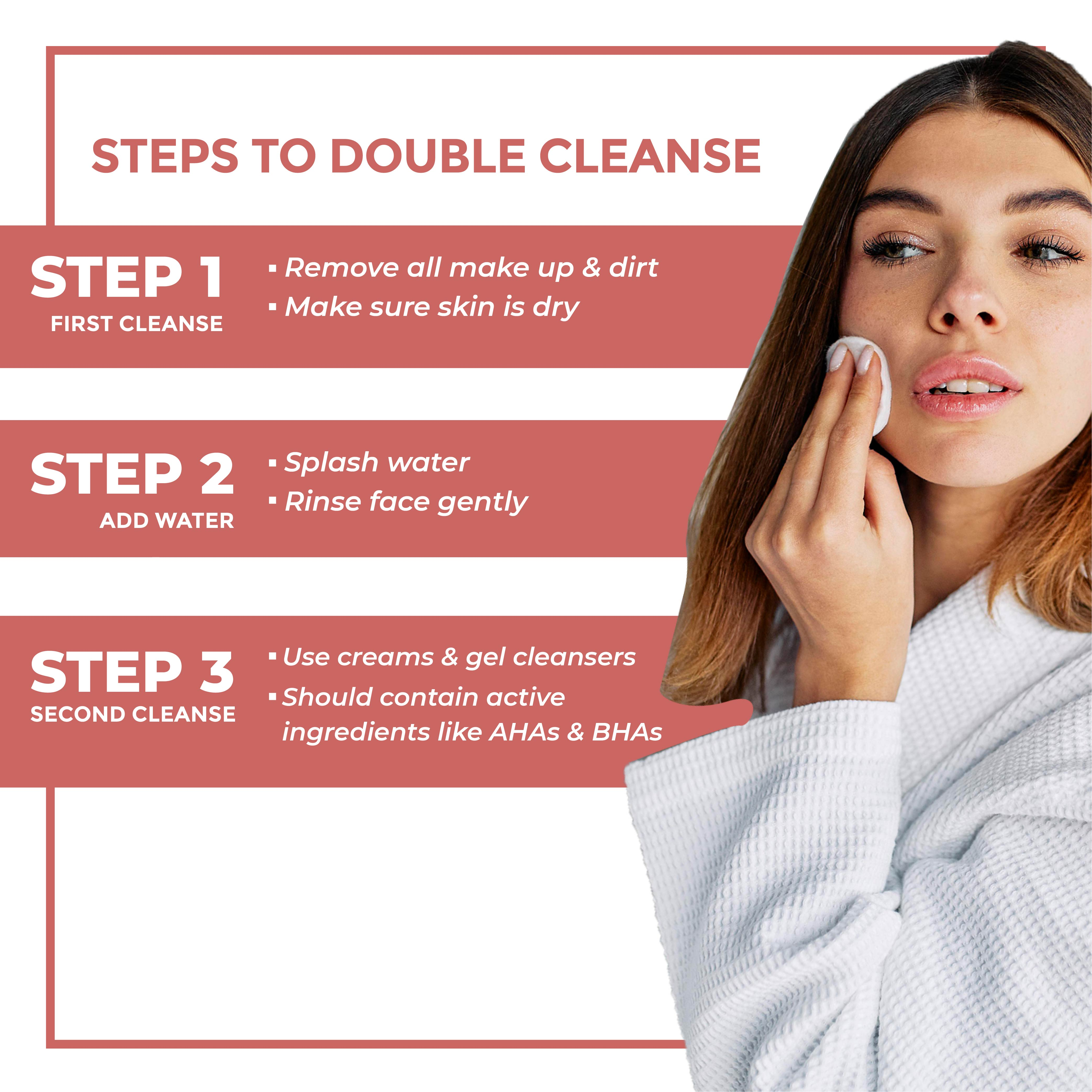 This a link to the steps for double cleansing