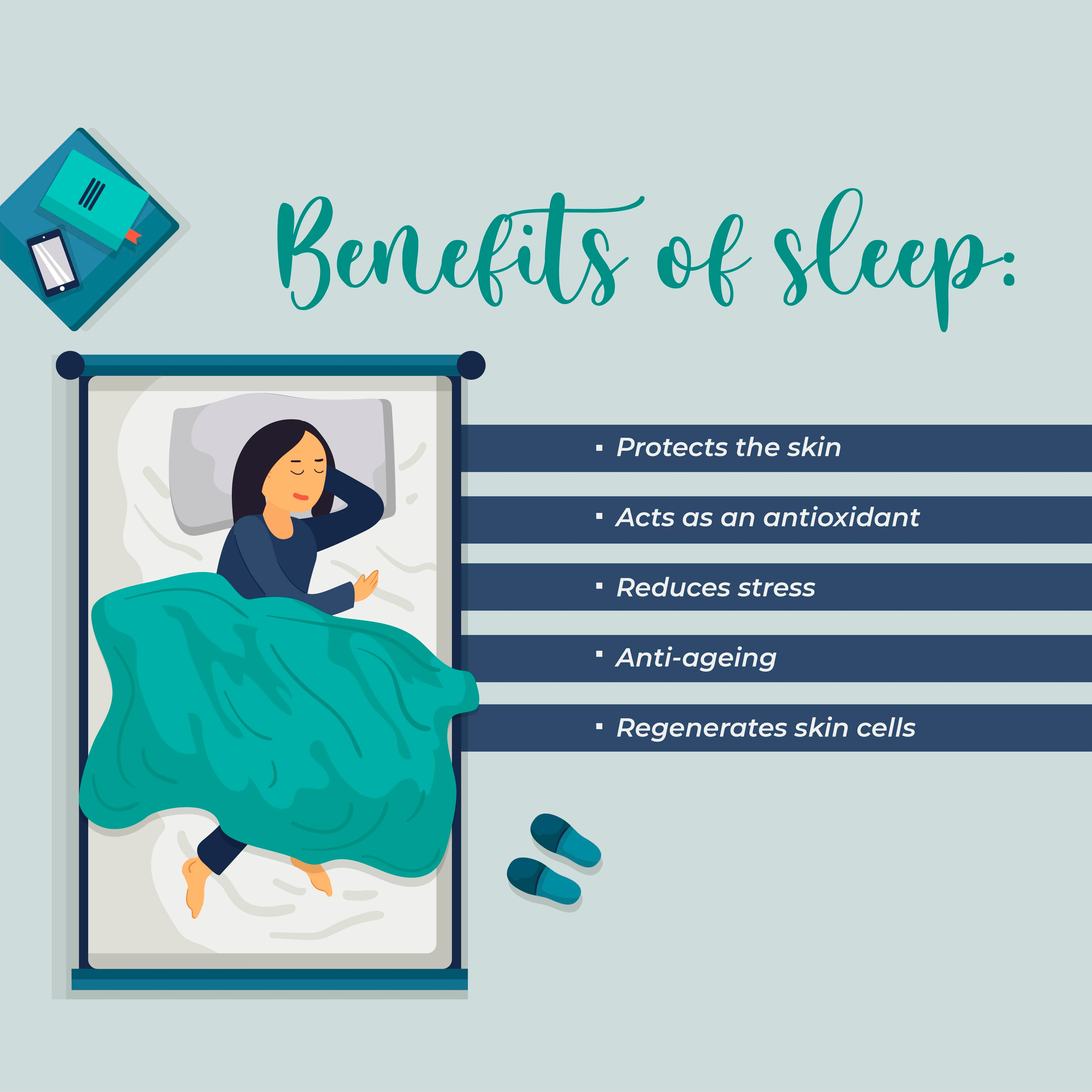 This is an image of the benefits of the sleep