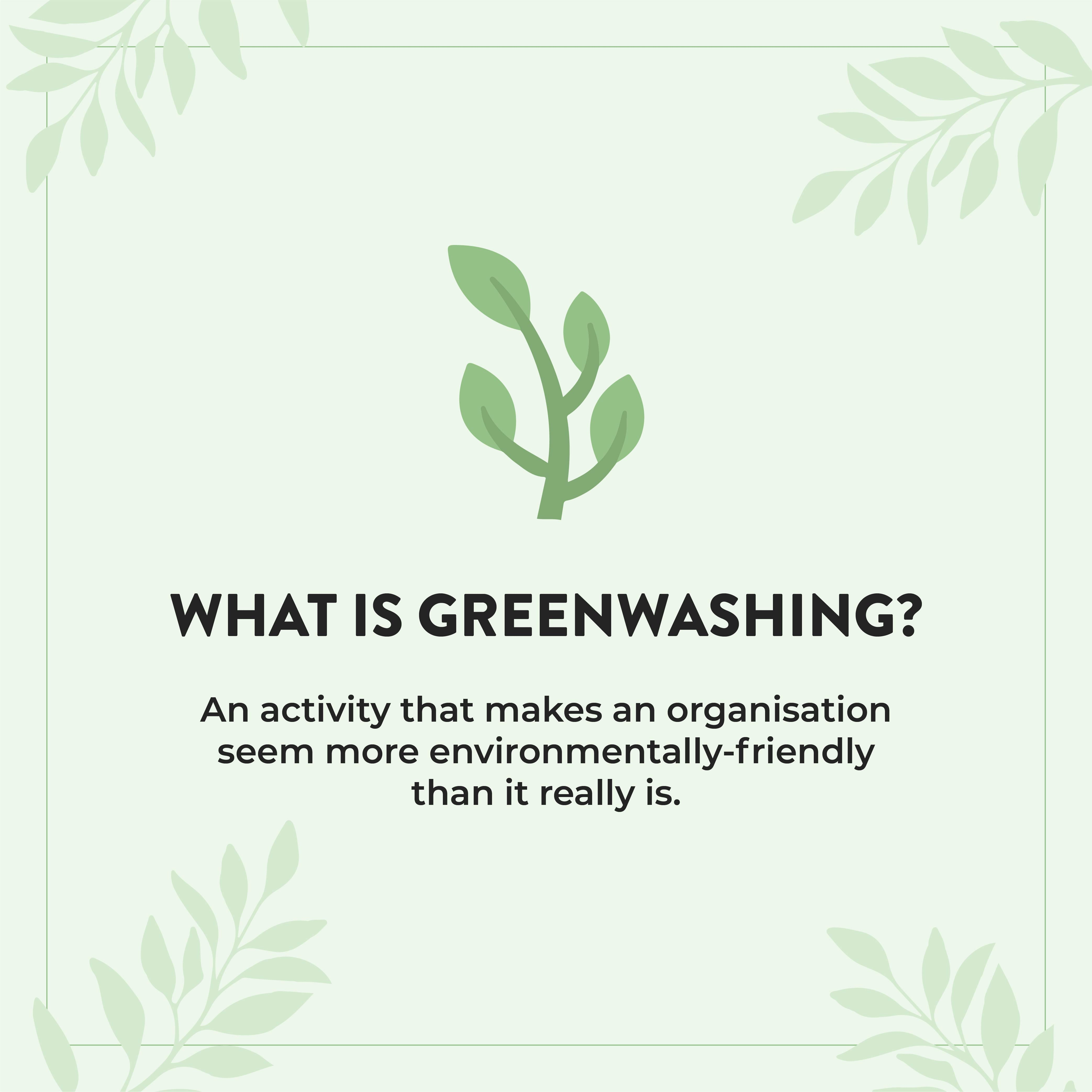 This is an image of what is greenwashing