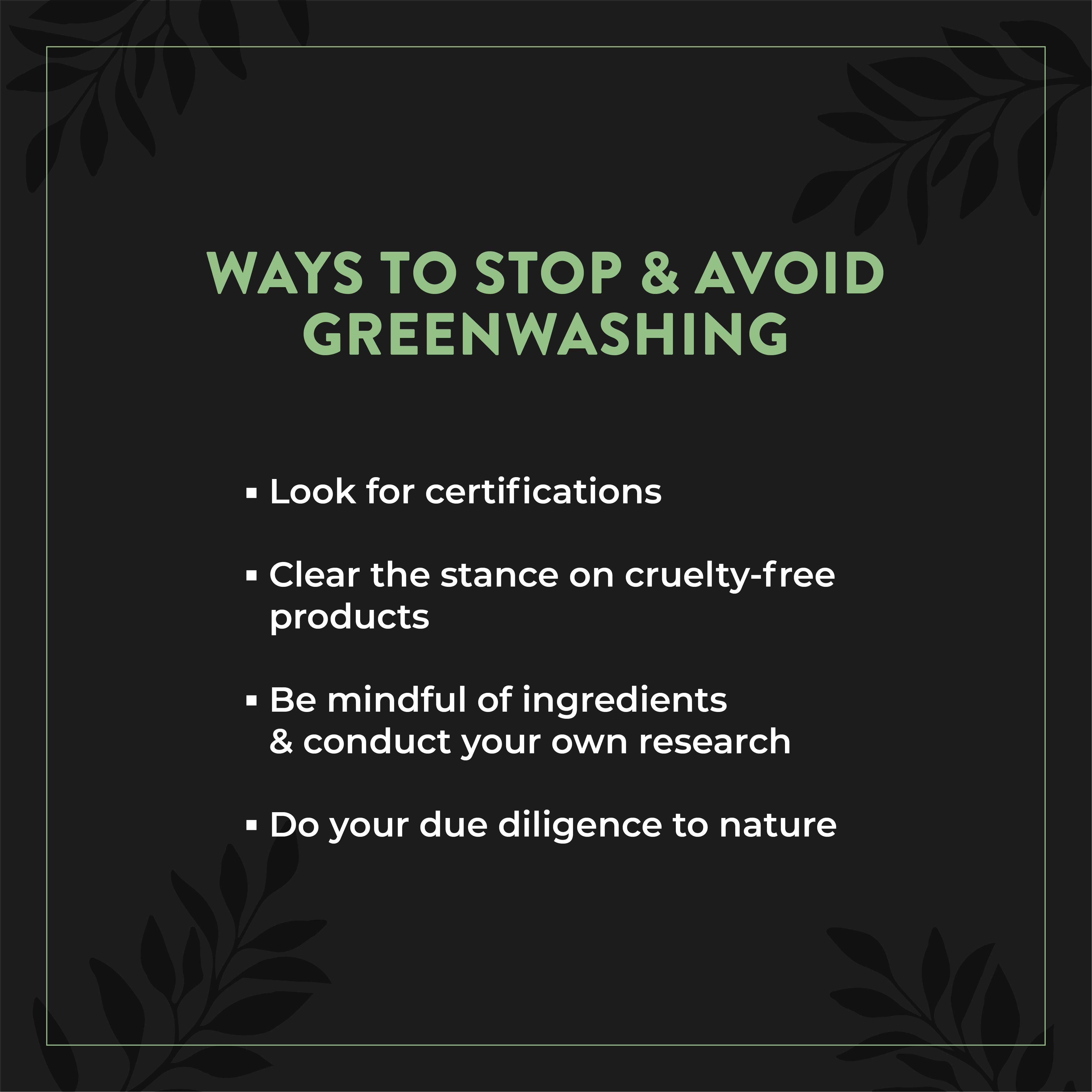 This is an image of how to stop greenwashing