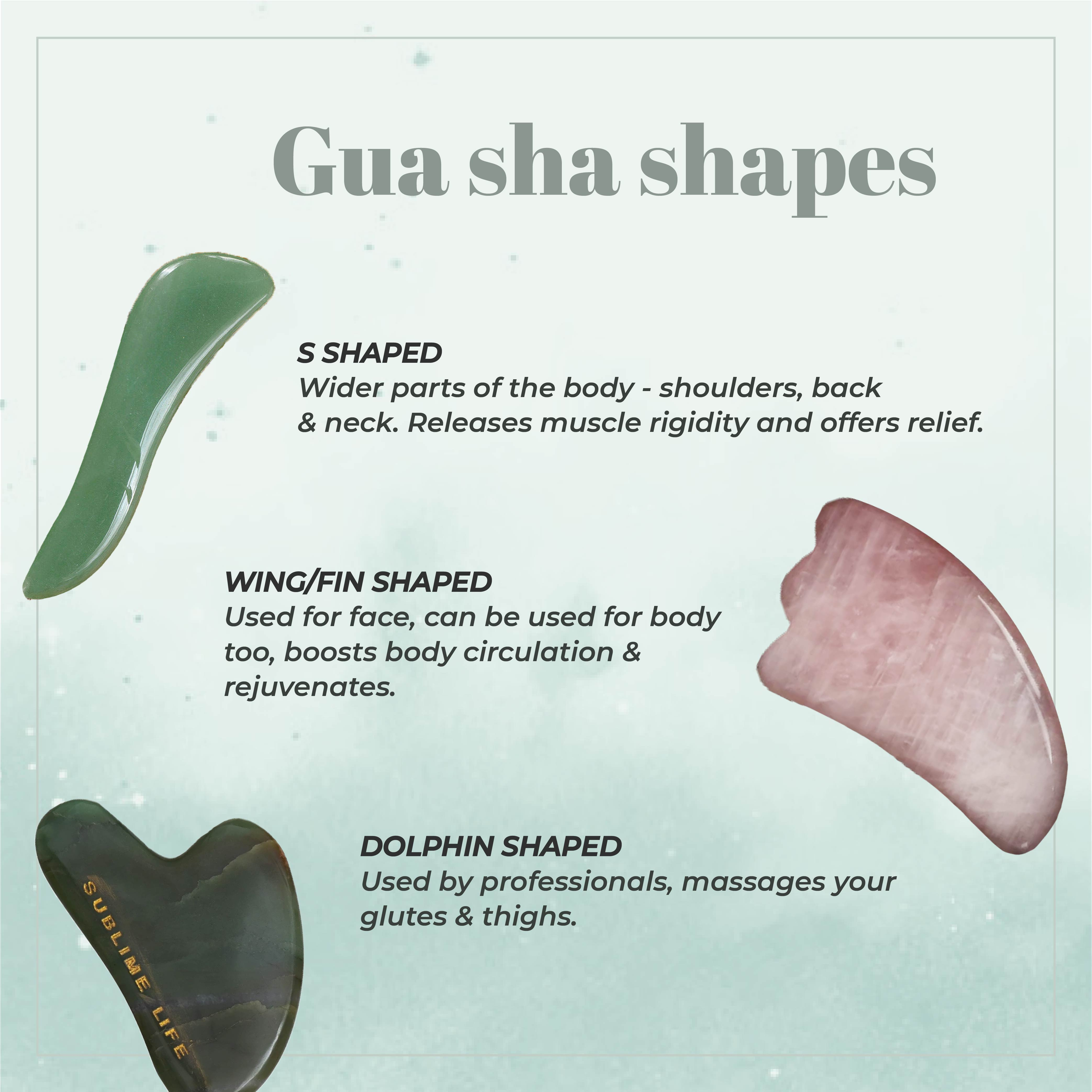 This is an image of the shapes of gua sha