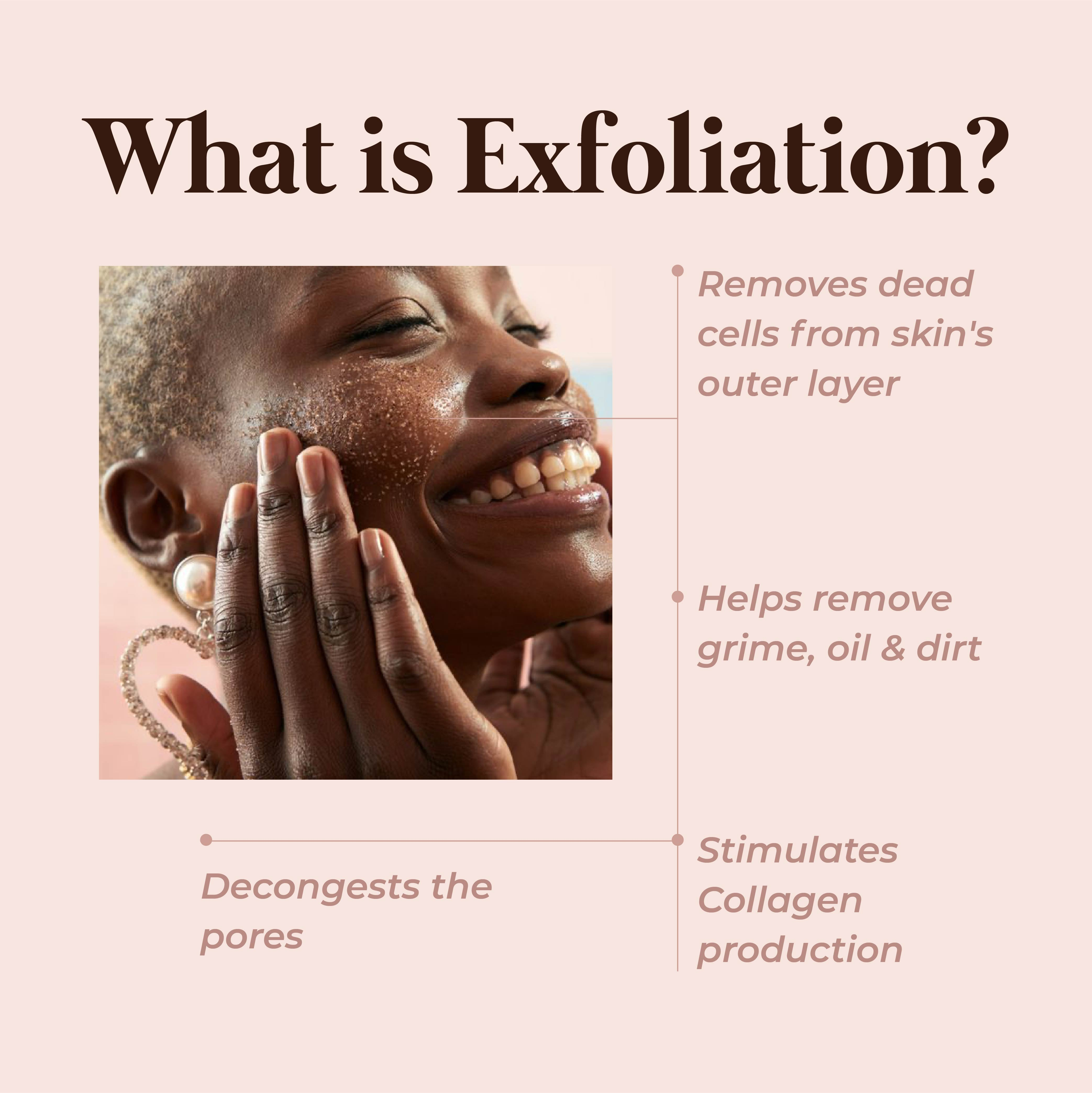 This is an image of what is exfoliation on www.sublimelife.in