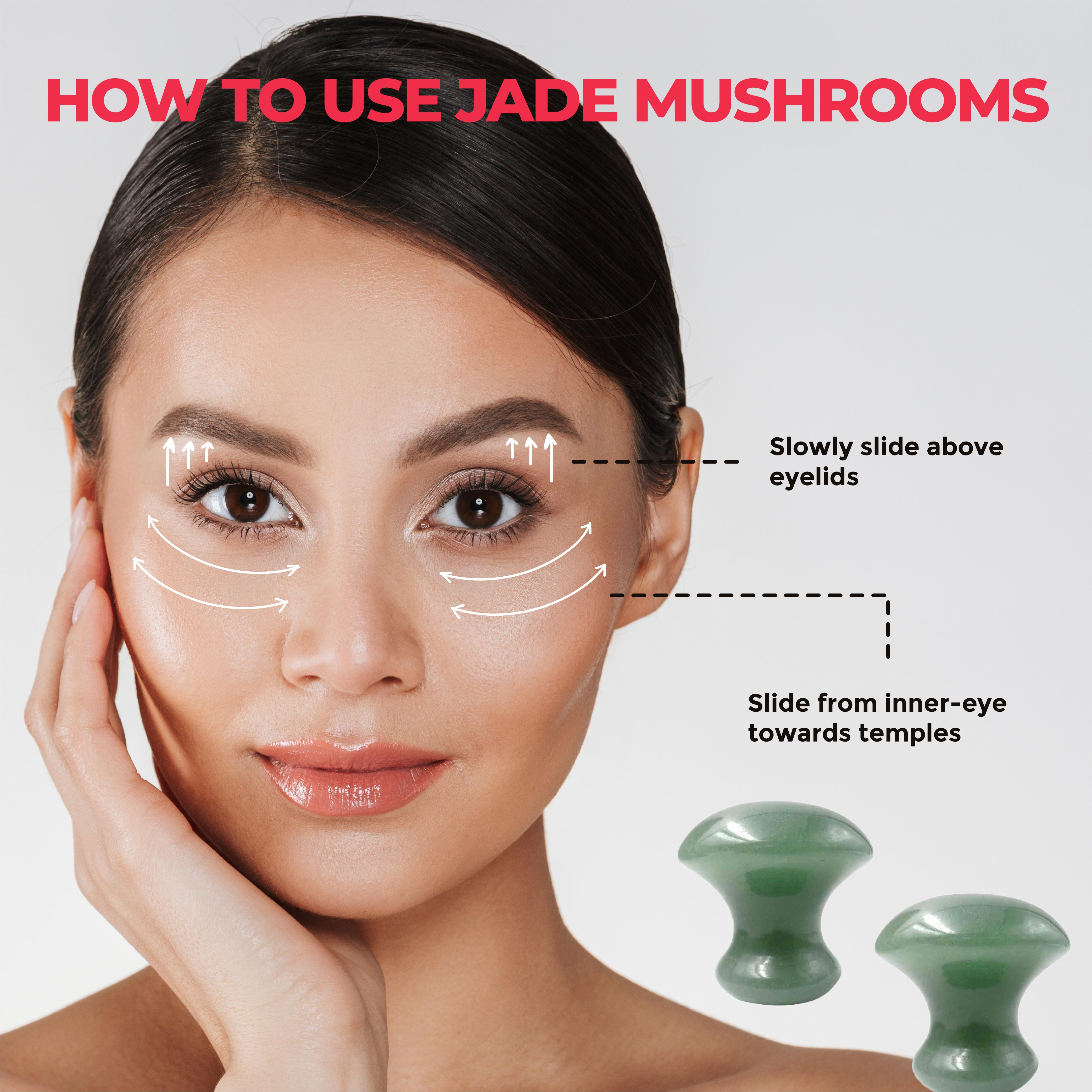 This is an image of how to use the House of Beauty Jade Mushrooms