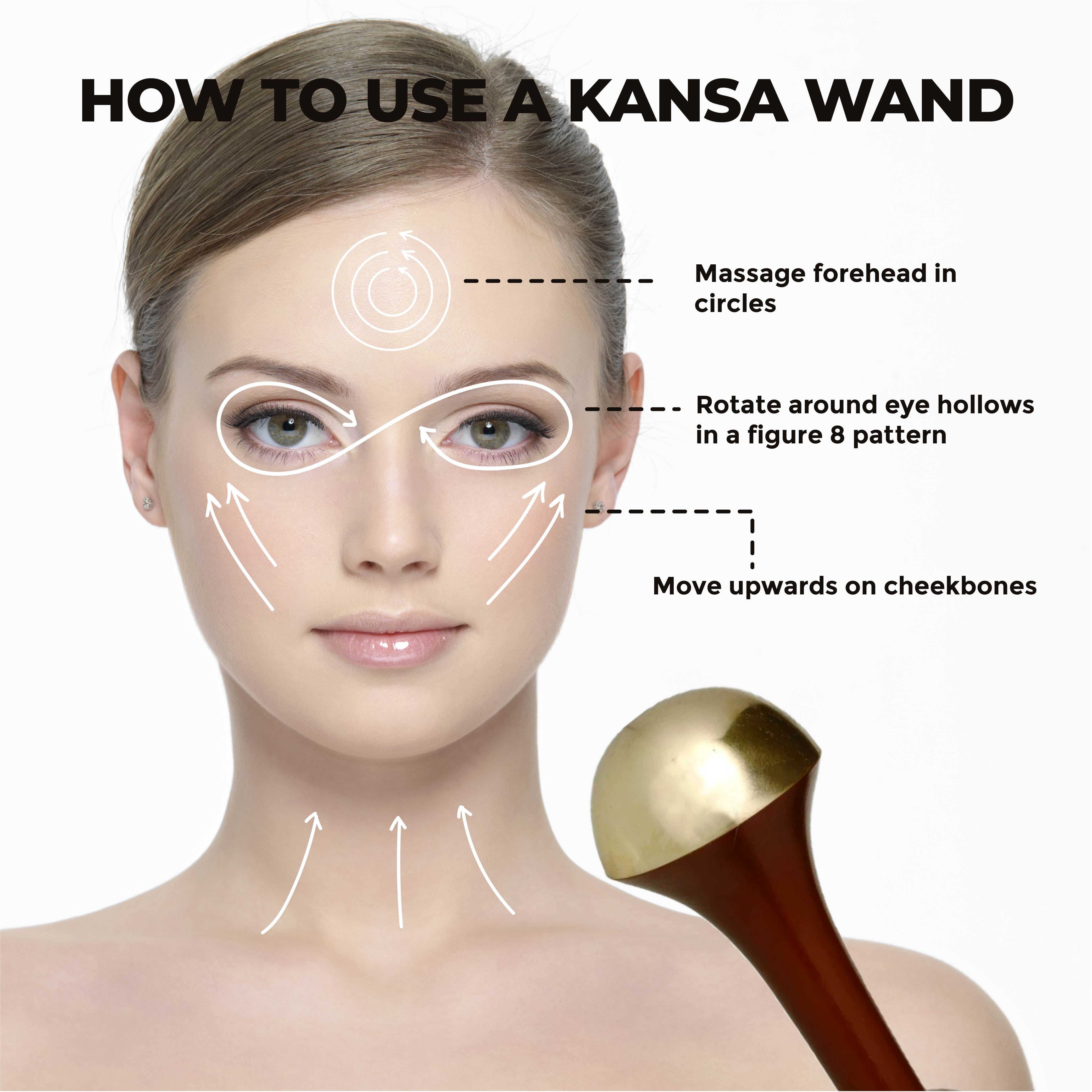 This is an image of how to use a Kansa Wand by Ohria Ayurveda