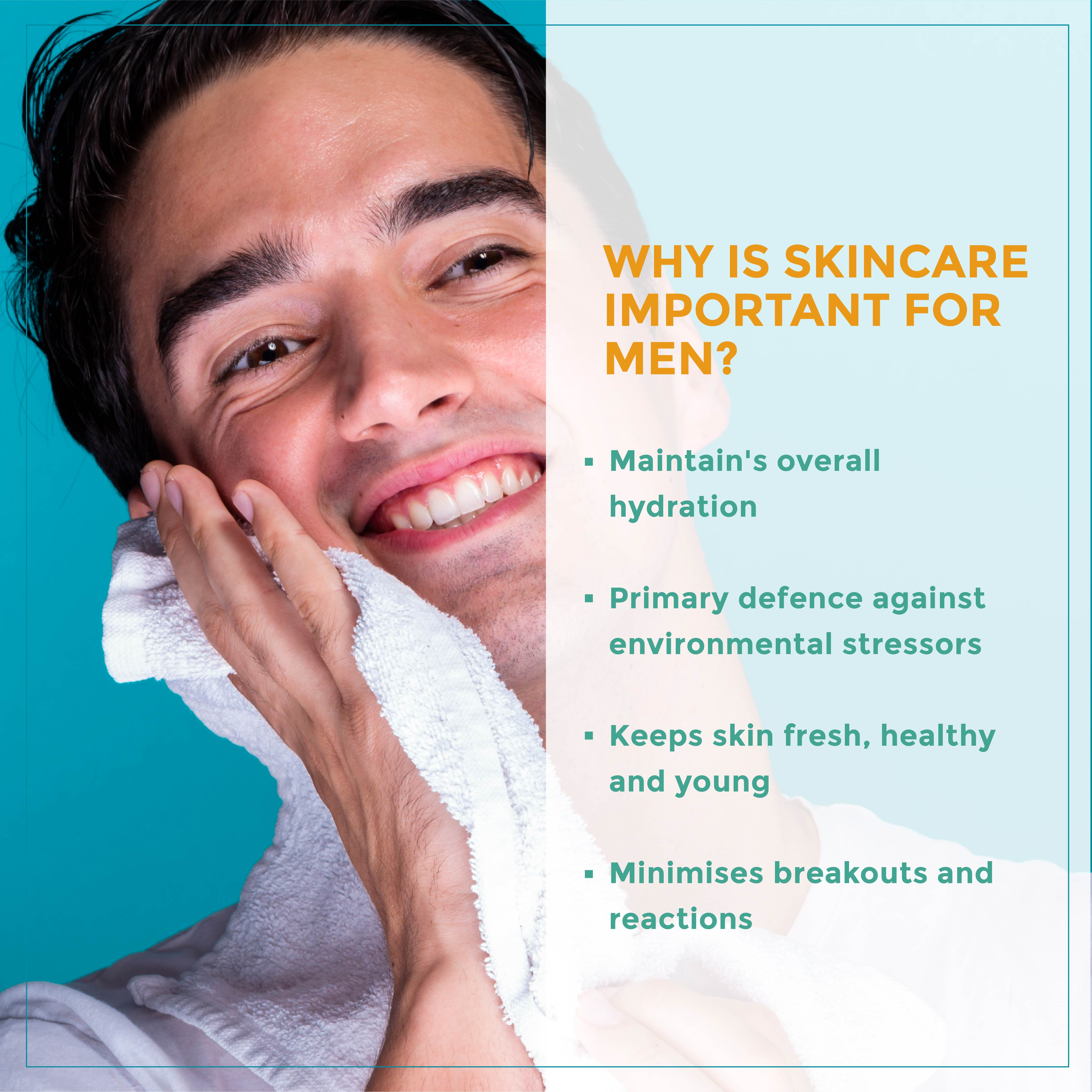 This is an image of why skincare is important for men