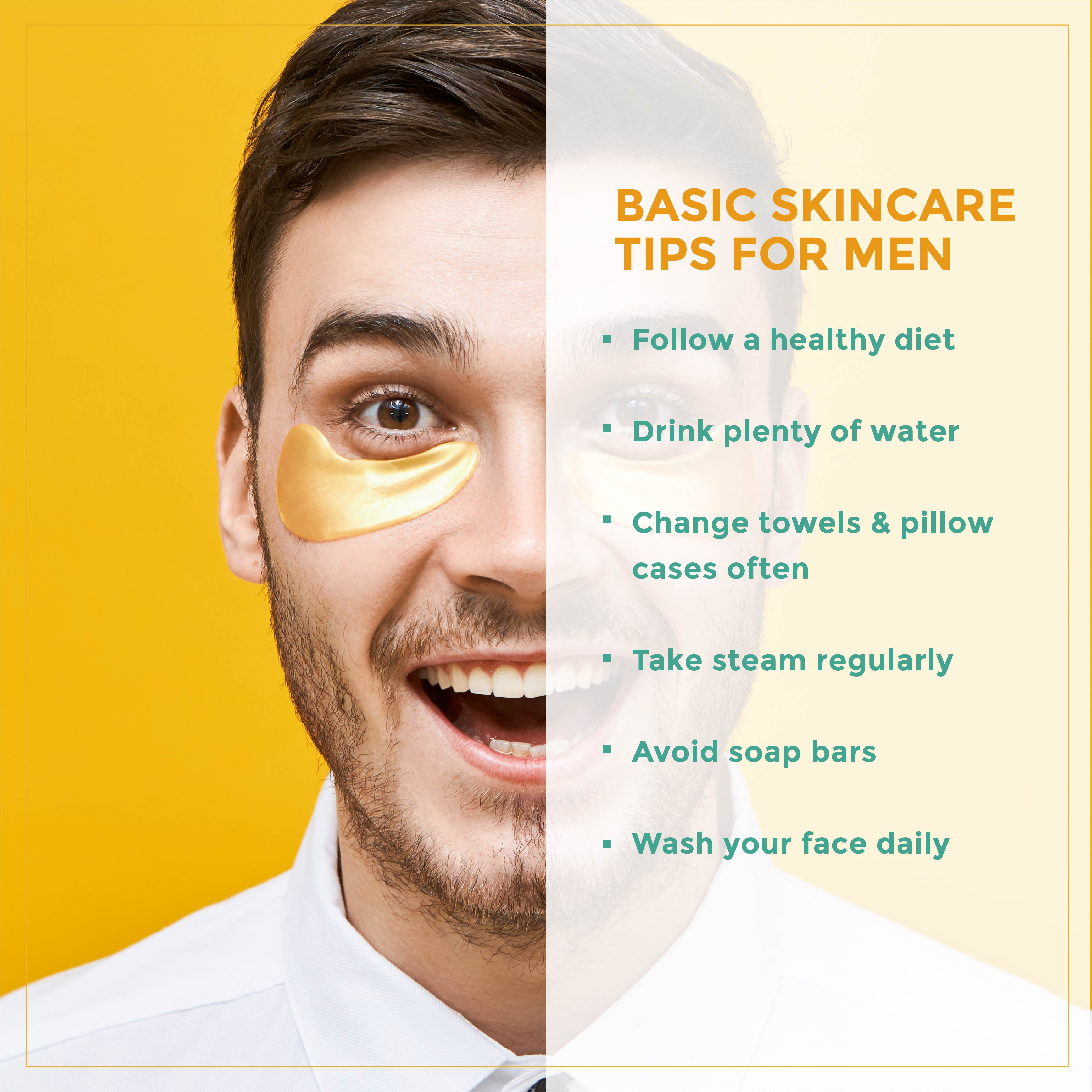 This is an image of skincare tips for men
