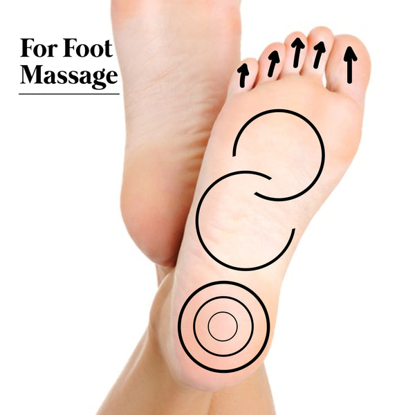 This is an image of How to use Kansa Wand for Foot Massage on www.sublimelife.in